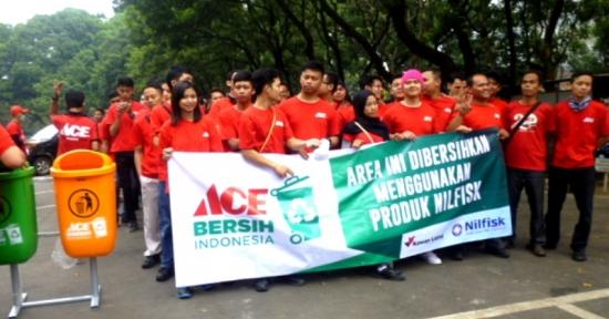 ACE Rayakan HUT RI ke-71-  Bersihkan  30 Kota se- Nusantara !
