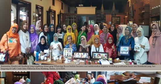 Upaya Cegah Pikun, Komunitas Handycrafts Bandung Gelar Workshop Kemikomi