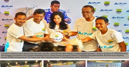 """Sponsor ke 17: """"Azzuri"""" Air Alkali, Siap Dukung Persib Selama Tiga Tahun"""