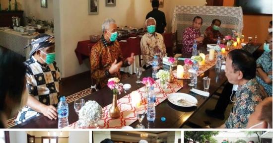 Ganjar Pranowo Gubernur Jateng 'Mendadak' Diskusi dengan Eka Santosa BOMA Jabar di Bandung, Apa Agendanya ?