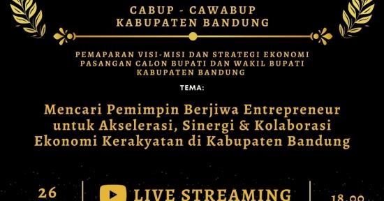 Mencari Pemimpin Berjiwa Entrepreneur, HIPMI Kabupaten Bandung Selenggarakan Sarasehan Kandidat Paslon