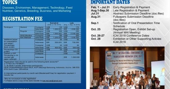 Masyarakat Akuakultur Indonesia Helat International Confrence  Aquaculture Indonesia 2018 di Yogyakarta